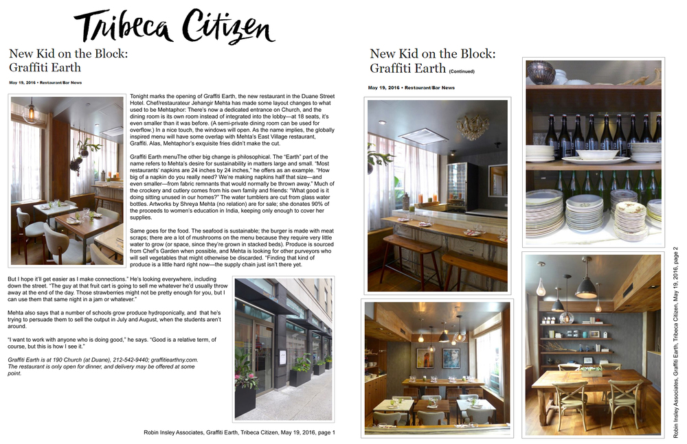 Tribeca Citizen, May 2016