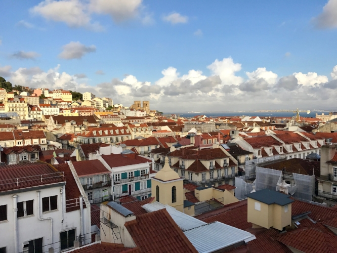 Looking over Alfama from Hotel do Chiado's rooftop bar.