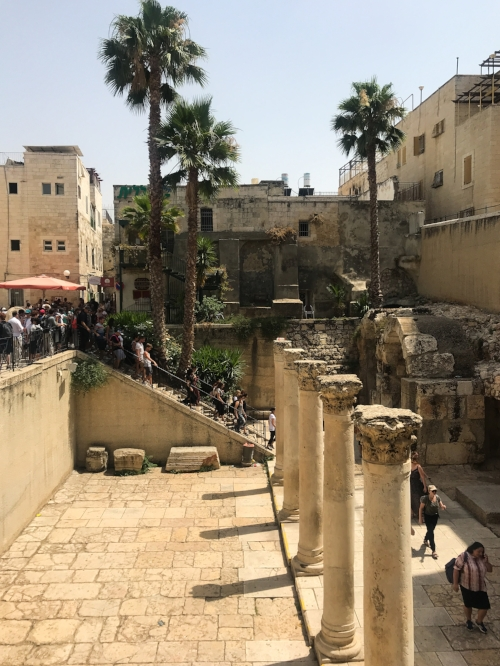 Remnants of the Roman Cardo in the Jewish Quarter of Old City Jerusalem