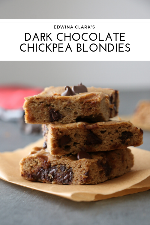Salted dark chocolate chickpea brownies: Flourless, high protein and fiber-rich!