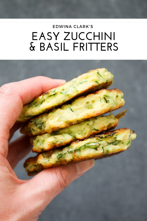 Zucchini, basil and feta fritters: Made with just a few ingredients, and absolutely delicious!