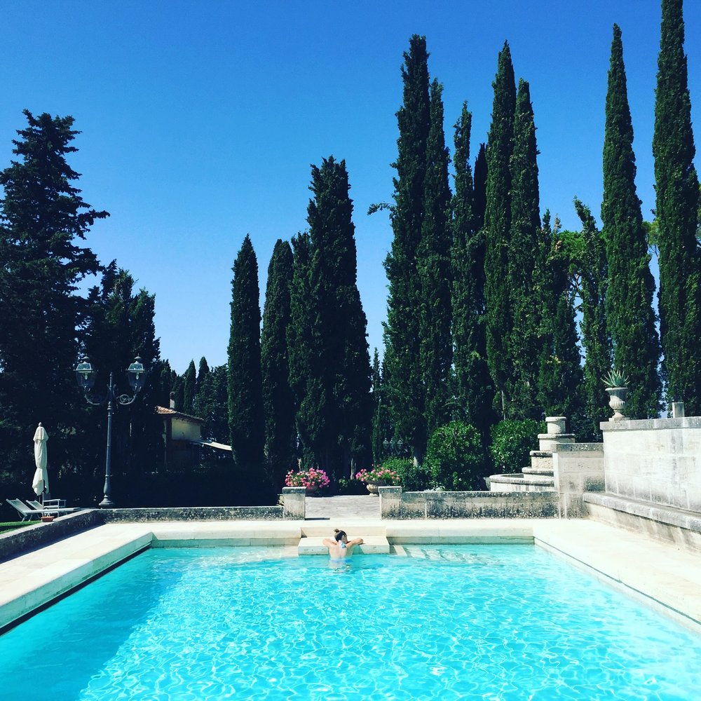 The pool at Villa Poggiano — the ultimate place to cool off and relax between adventures in summer.