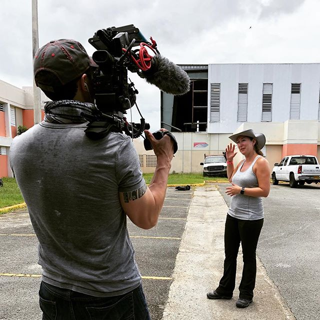 #bts #actionshot from #puertorico. One of the walls of this school was torn off during #hurricanemaria #hurricaneirma. Because of this, the indoor #basketball court was exposed to the elements and wildlife. @generalelectric worked with @jjbareafoundation to clean and repair the facility which included power washing the seats, replacing the basketball nets, and removing bird excrement from the court. . . . . . #filmmaking #videoproduction #videography #video #travel #documentary #teamcanon #location #disaster #disasterrelief #philanthropy #xlpuertorico