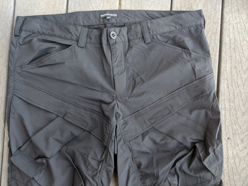 The front view of the new 2Pocket Pants from Ukranian brand, Riot Division