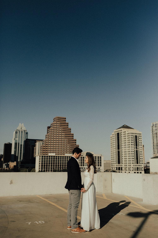 Morgan + Christian | Engagements | Austin, TX skyline & Emma Long Metropolitan Park-2
