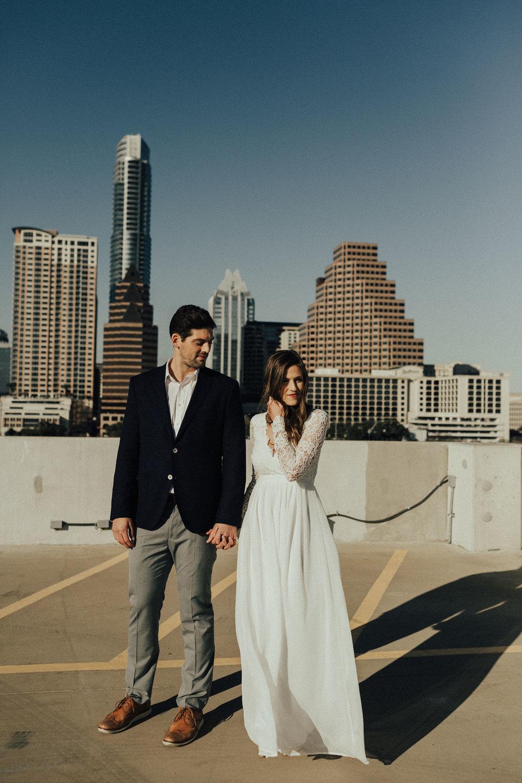 Morgan + Christian | Engagements | Austin, TX skyline & Emma Long Metropolitan Park-3