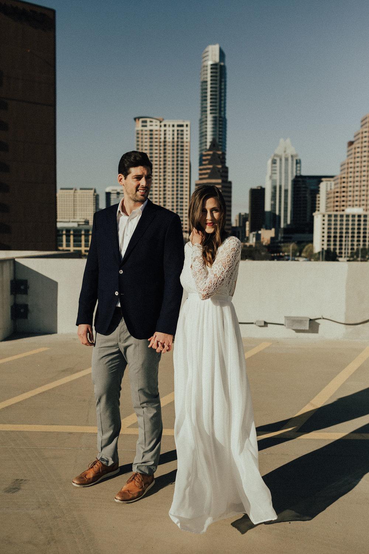 Morgan + Christian | Engagements | Austin, TX skyline & Emma Long Metropolitan Park-5