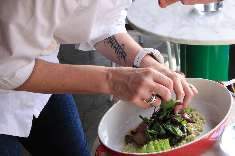 Chef Jennifer Toomey and the importance of plating.