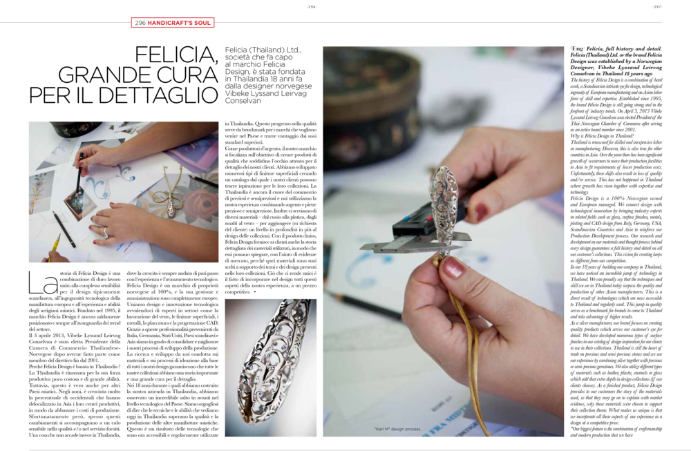 VIORO Magazine (Spring). Italian.Editorial: Manufacturing in Thailand.