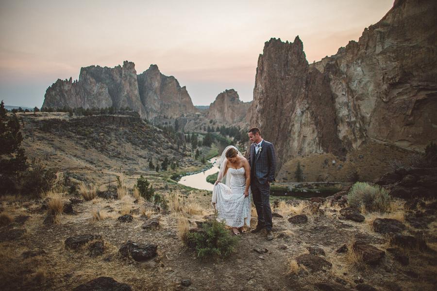 Erin + Dallas    Smith Rock State Park Wedding    Terrebonne, OR