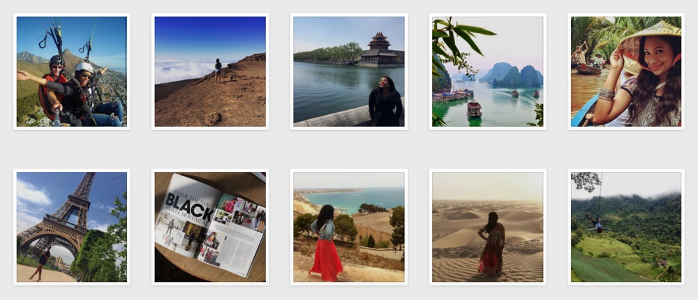 Thousands of people from all over the world follow Travel Noire. Over 100K followers in a little over a year. Being featured on their Instagram has become a social badge of honor to many travelers far and wide.