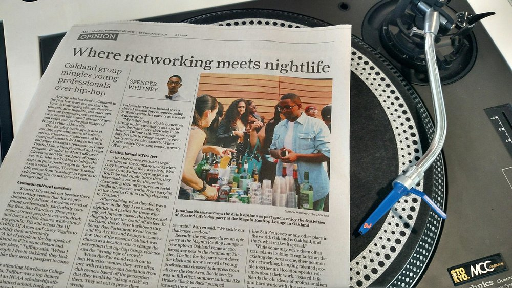 Toasted Life write up in the SF Chronicle