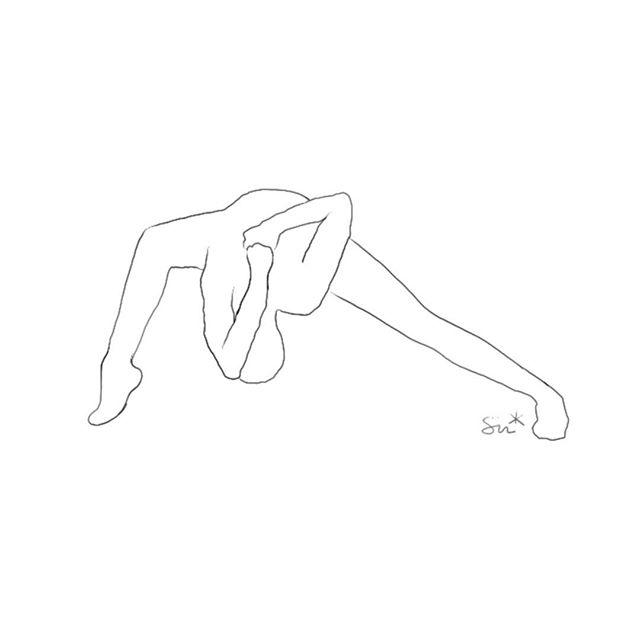 / quietly strong . . . #humblewarrior #flaminyogi #rocketyoga #benddontbreak #yogainspo #ashtangavinyasa #functionaltraining #movementculture #figurativedrawing #illustration #drawing #yogisofinstagram #movingmeditation #design #breathe | inspo: @anadiasyoga