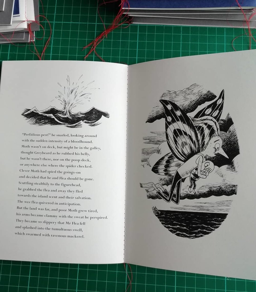Spread from Flea Over The Sea