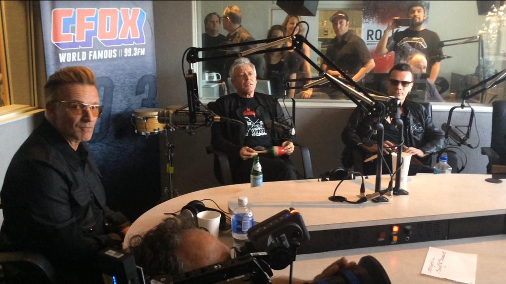 U2 in the CFOX studios