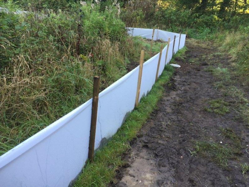 Ecological mitigation: amphibian fencing