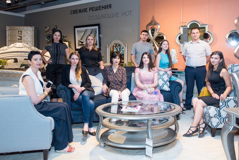 Ланч с дизайнерами в мебельном AP home, 14 июня 2018