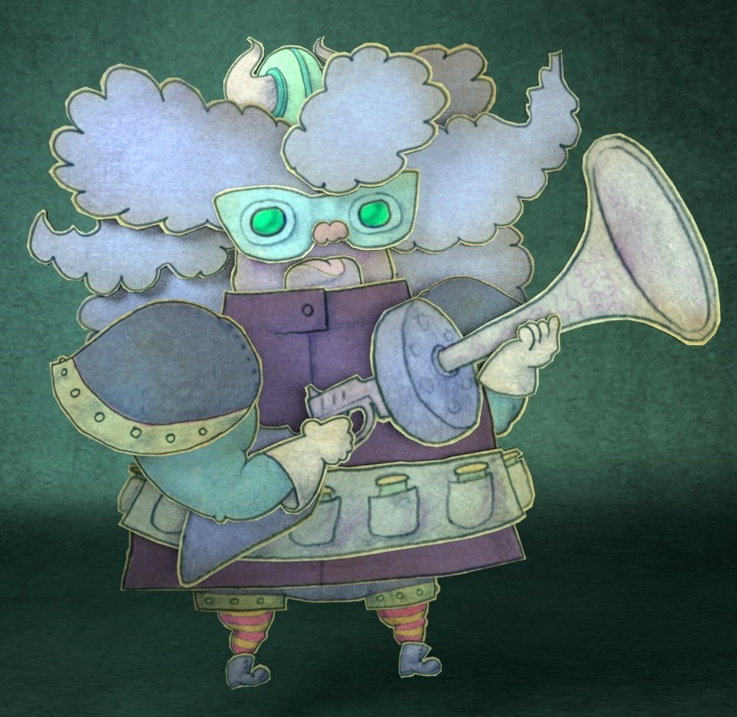 One of the first characters created for our book