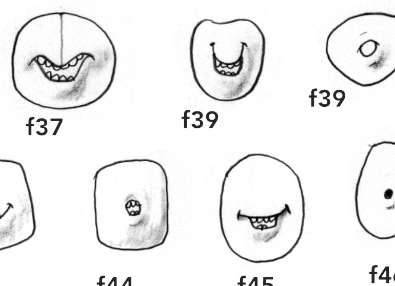 Character mouths for the book