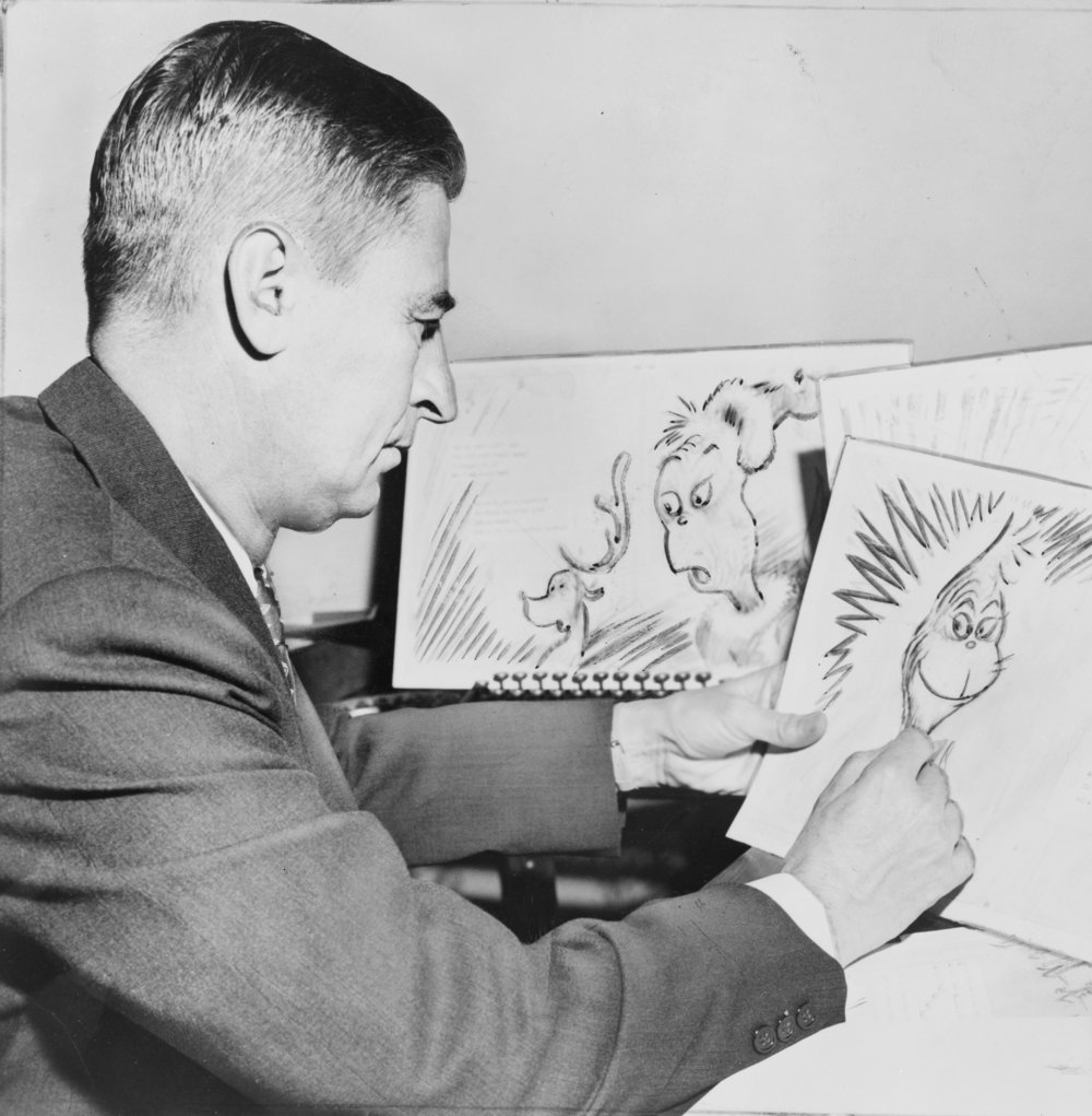 Dr. Seuss (real name Theodor Seuss Geisel)        [image:Library of Congress]