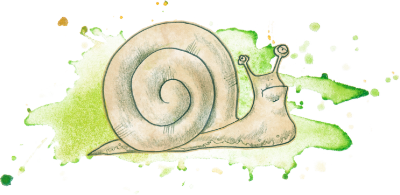 snail with slime