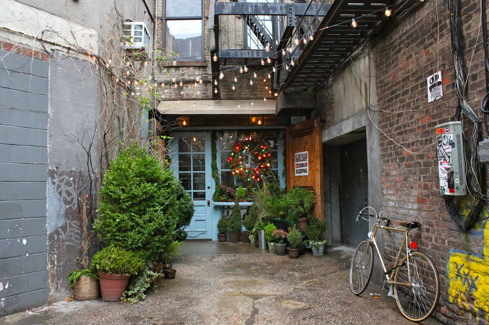 At the the end of Freeman's Alley, you'll see a welcoming door!