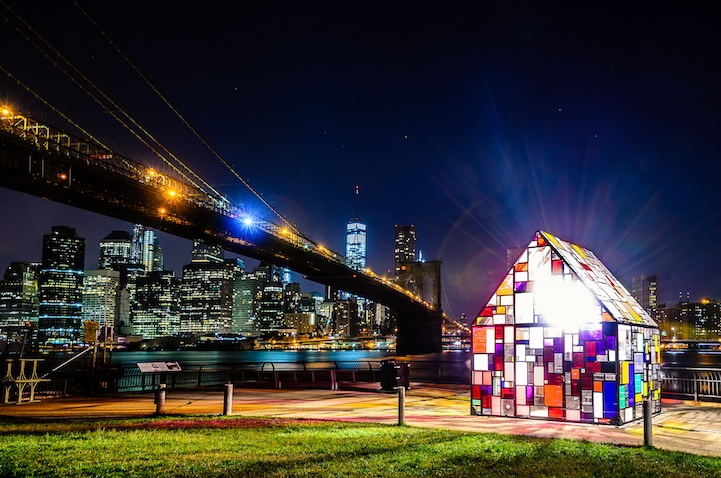 Dumbo Art Festival 2015 - Tom Fruin and performance duo CoreAct presented a collaborative project called Reflection.