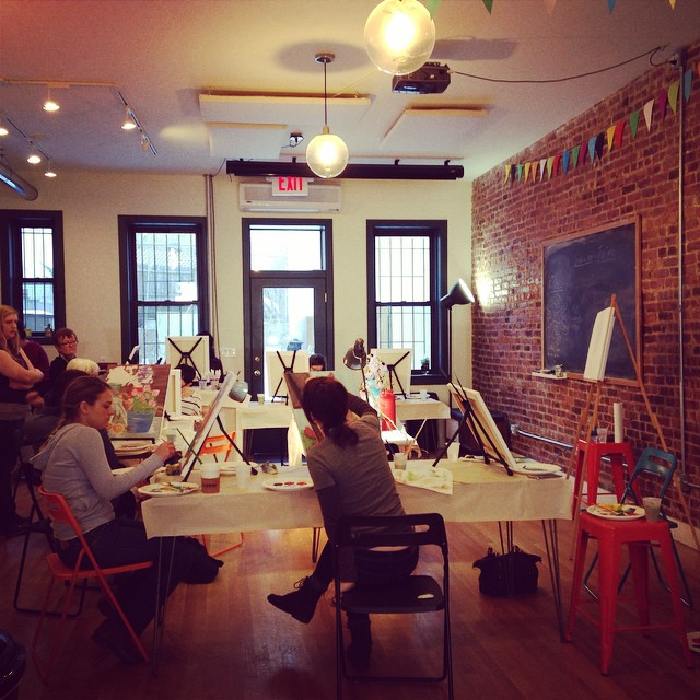 Painting class in action!