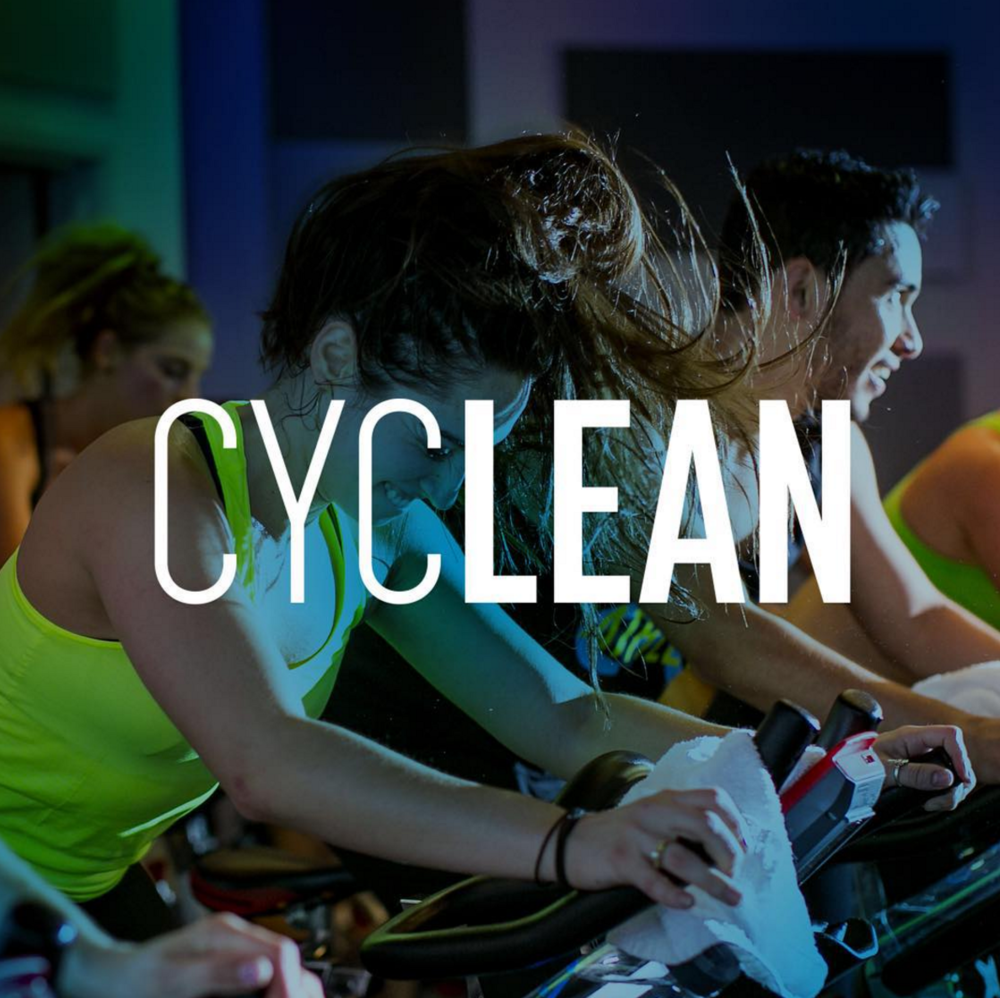 "CycLean  Take the ""weight"" off your shoulders and transform your stress into sweat. Raise your stamina in this 45-minute, weight-free ride. Hills, jogs, jumps and the perfect balance of resistance will free your mind and keep your body lean."