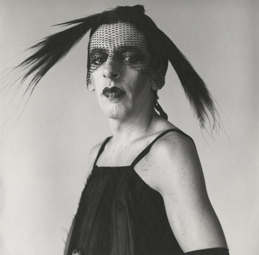 Peter Hujar - John Heys in Lana Turner Dress #1, 1979