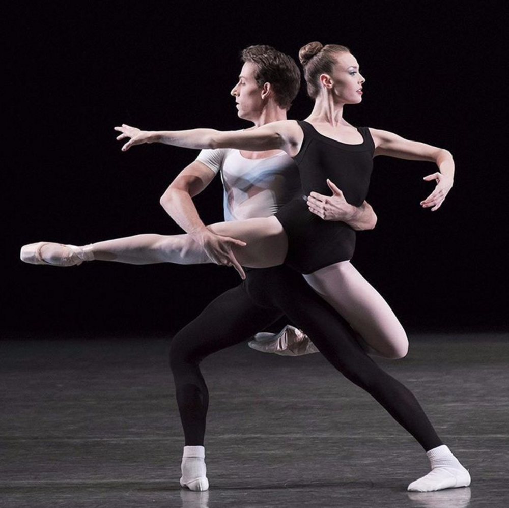 Closing out the fall performance period this afternoon with the Balanchine Black and White program. Cameron Dieck and Emilie Gerrity in The Four Temperaments