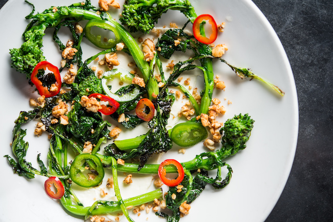 Pearl and Ash charred rapini, parmesan, fresno chilies, sour peanuts.jpg