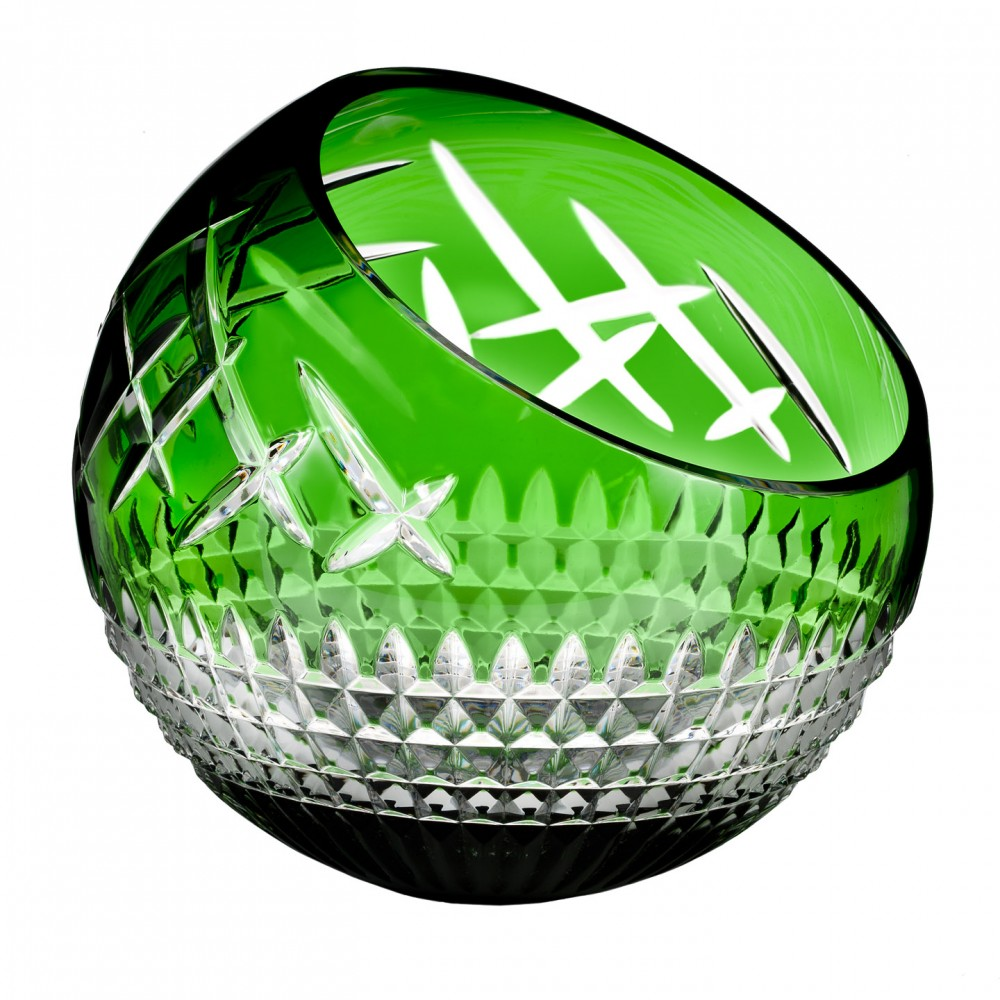 Waterford Fleurology Jeff Leatham Cleo Emerald Green 12in Angled Rose Bowl.jpg