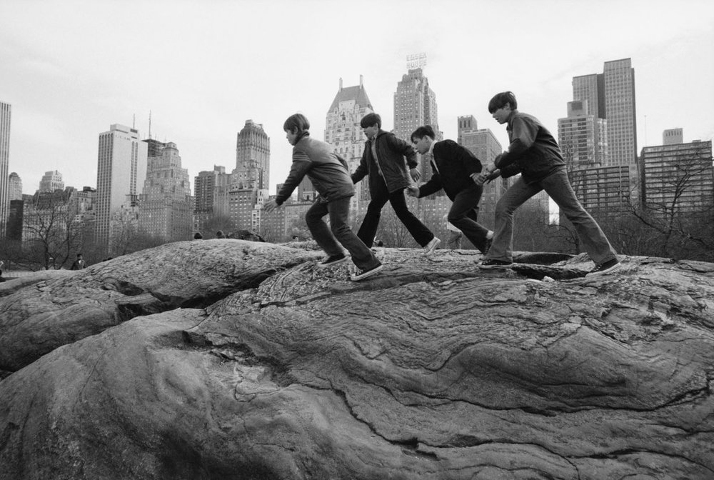 Central Park - 24 Four boys climb on rocks in Central Park, November 1972 - Life.com.jpg