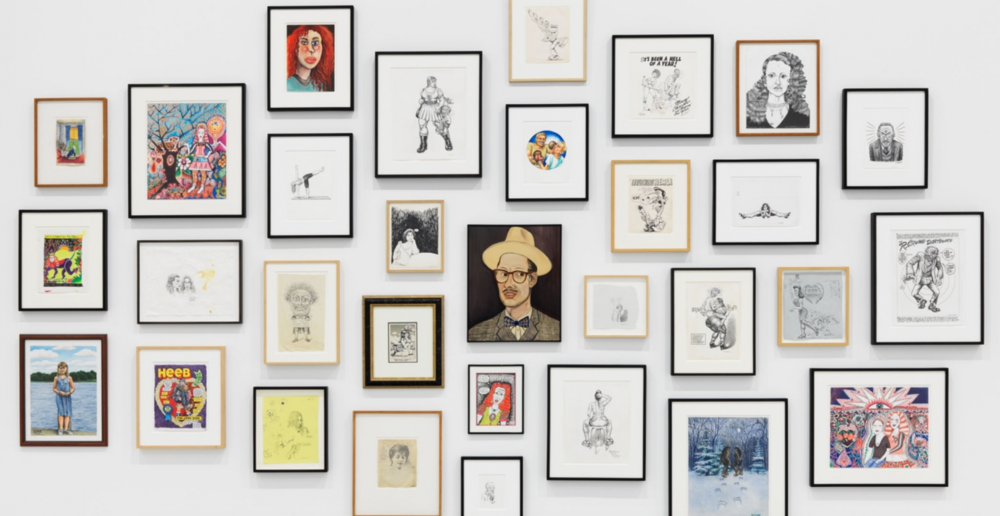 Drawn Together by Aline Kominsky-Crumb & Robert Crumb at David Zwirner