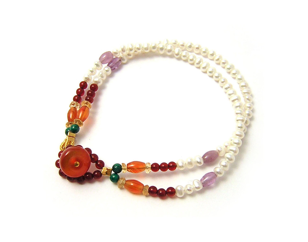 Katherine Bree Maharajah simple bracelet red.jpg