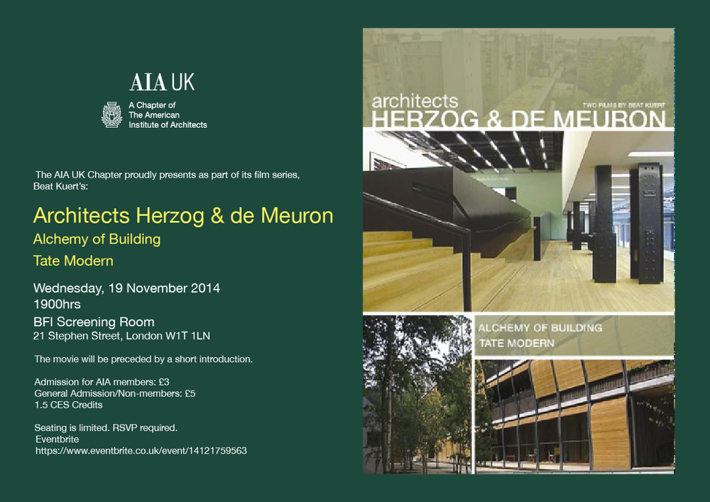 Herzog & De Meuron Film Night