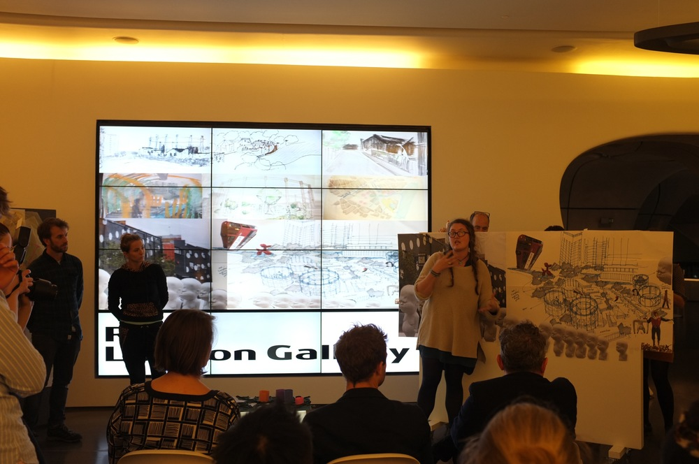 University of East London students presenting to the jury