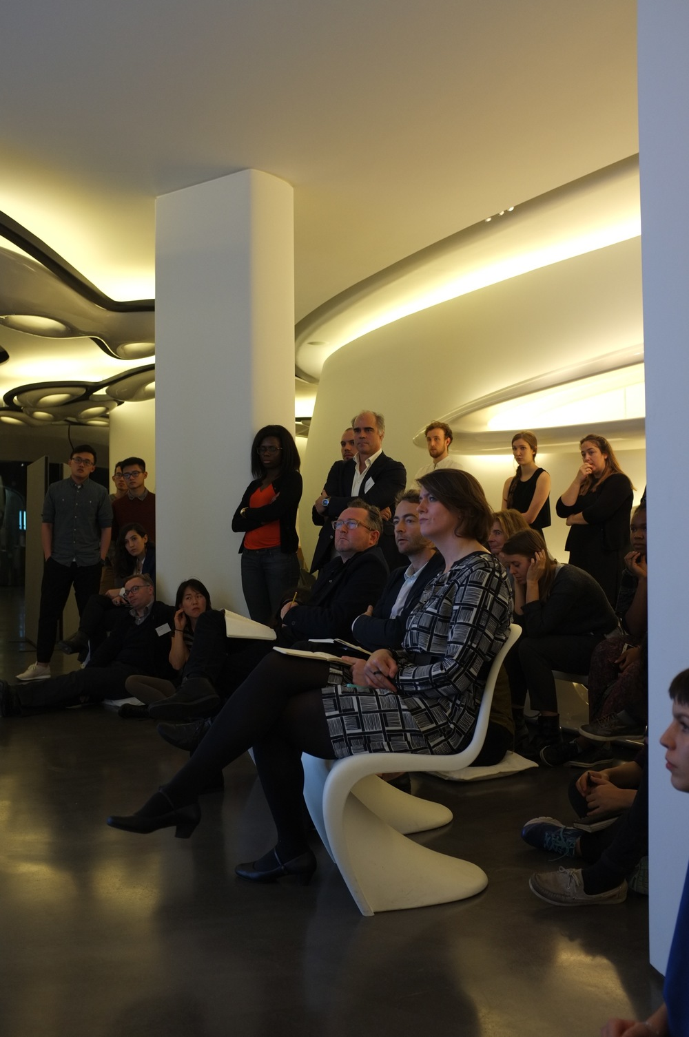 The jury (R to L) Patrick Lynch, Nicholas Gilliland, Karin Templin