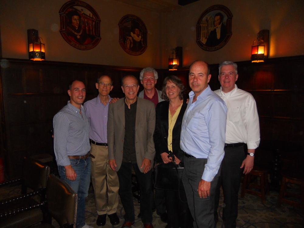 L to R: Robert Rhodes, Harry Goforth, Bob Schmidt, Michael Lischer, Lorraine King, Lester Korzilius, R.D Reber
