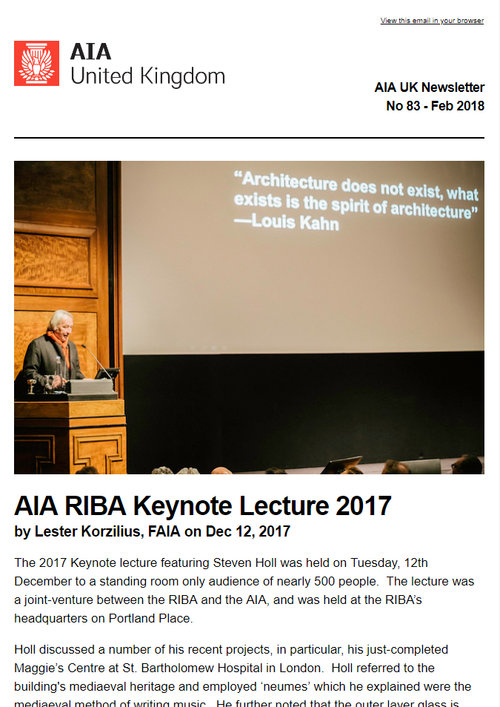 newsletters aia uk