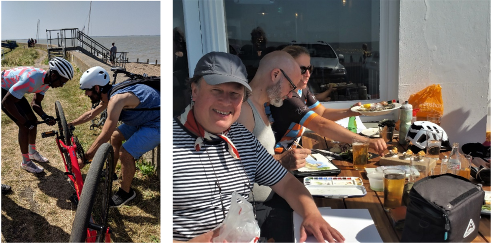 F1 Calibre Teamwork; Waiting in Whitstable with Beer, Oysters and Sketchpads.     Photo Credit: M Loring, L King