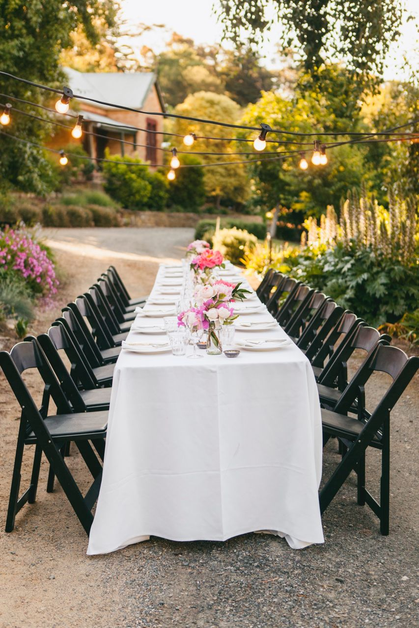 A dinner event on our driveway. Photo Jennifer Sando.