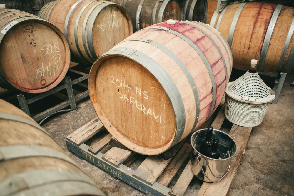 Our barrel cellar. Photo Jennifer Sando.