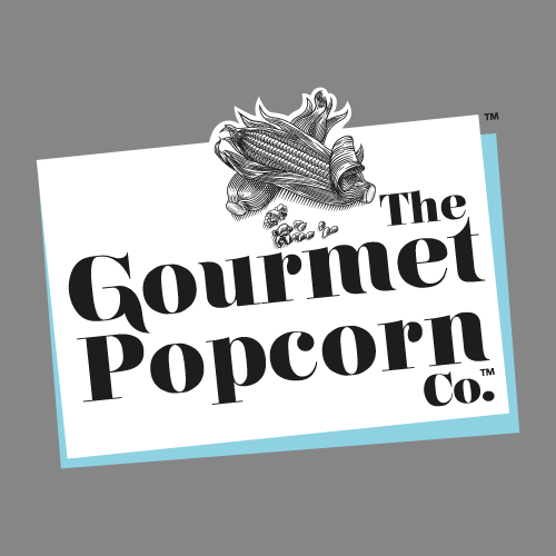 Brand identity and packaging design projects for The Gourmet Popcorn Company