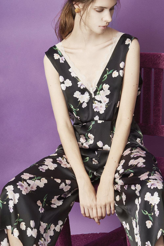 Violet & Wren Vita Collection Ebony Tulip Jumpsuit