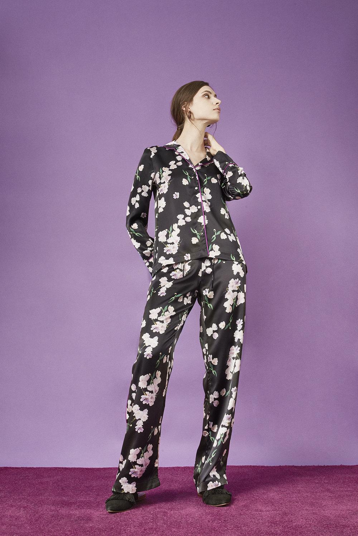 Violet & Wren Vita Collection Ebony Tulip Pyjamas