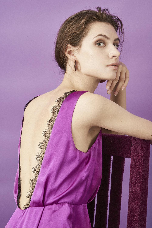 Violet & Wren Vita Collection Fuchsia Jumpsuit