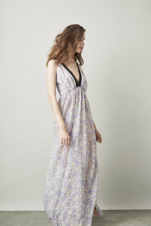 Violet & Wren Vita Collection Pressed Petals Maxi Slip