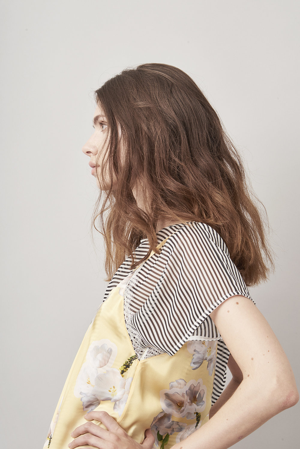 Violet & Wren Vita Collection Sundrenched Tulip Slip Dress and Aniseed Stripe Tee